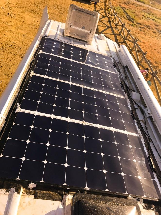 Sprinter Van Conversion Solar Panels 4x 100W Semi Flexible On The Roof